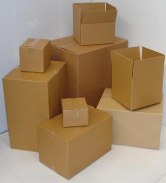 CARDBOARD SHIPPING BOX CORRUGATED STOCK #0