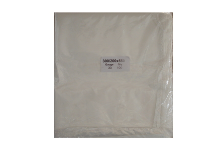 300/200x550x30 RUBBISH BAG IN WHITE